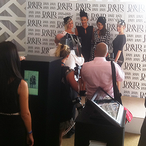 Interactive Social Media Booth at the David Jones Australian Derby