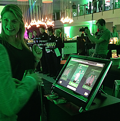 Microsoft's Social Media Booth activation as part of Xbox One launch.