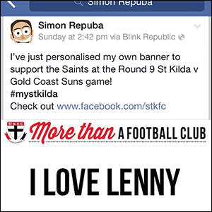 AFL Fans instantly share Club support messages on Social Media