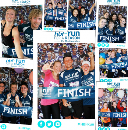 Social Media Photo Booths at HBF Run for a Reason