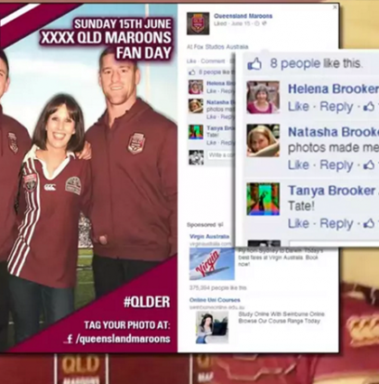 State of Origin Social Media Photo Booth