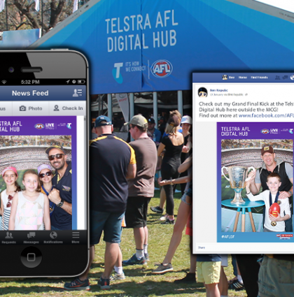 Telstra AFL Digital Hub: Social Media Video and Photo Technology