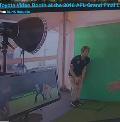 Toyota Social Video Booth on Channel 7